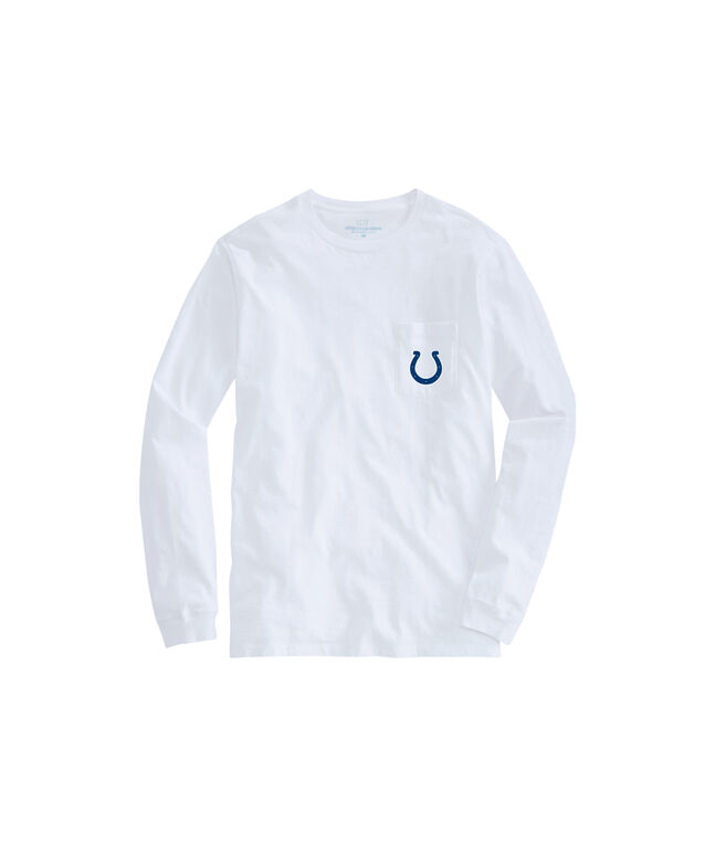 Adult Colts Long-Sleeve Block Stripe T-Shirt