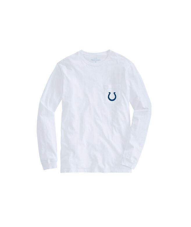 Adult Colts Long-Sleeve Block Stripe T-Shirt