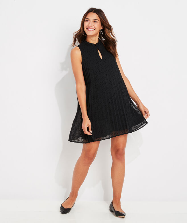Pleated Tiny Stars Swing Dress
