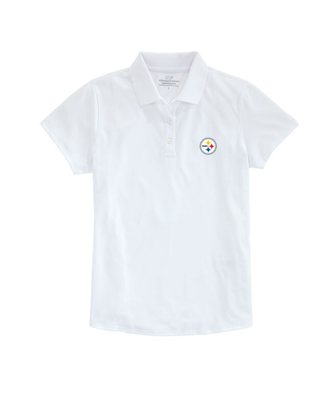 Womens Pittsburgh Steelers Performance Pique Stretch Polo