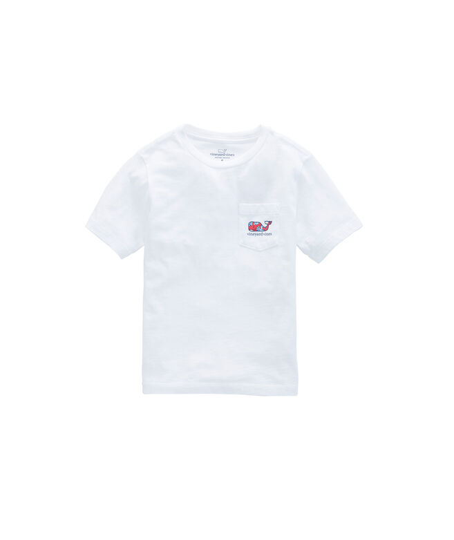 Boys Crab Flowers Whale Fill Pocket T-Shirt