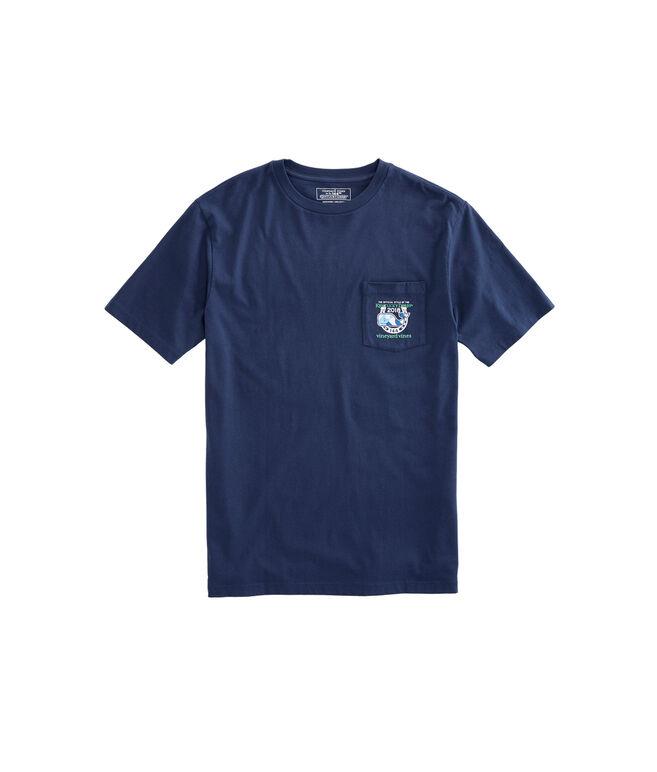 Patchwork Tie Logo Pocket T-Shirt