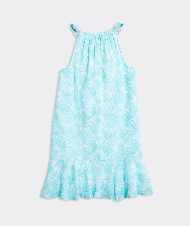 Girls' Travelers Palm Halter Dress