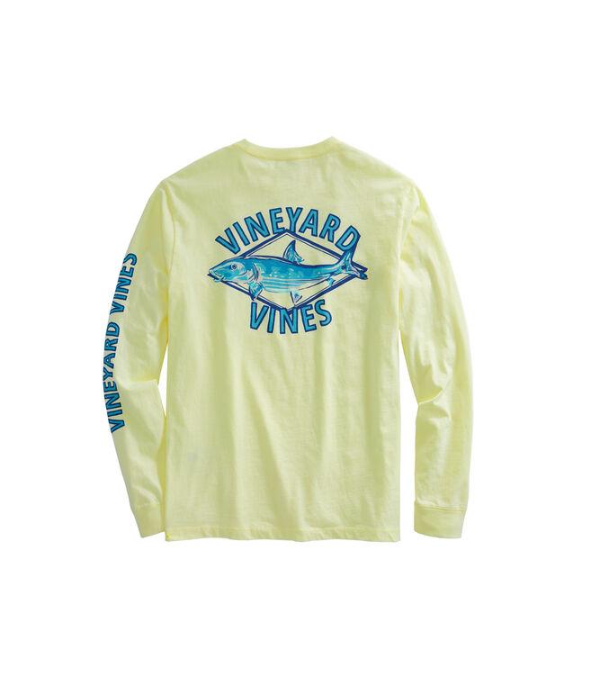 Long-Sleeve Bonefish Diamond Pocket T-Shirt