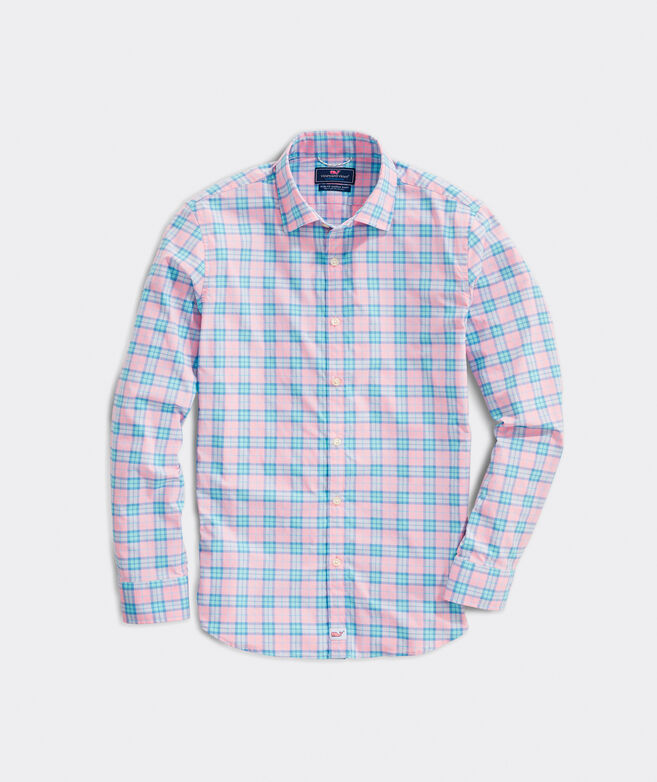 Slim Fit Sunset Ridge On-The-Go Performance Spread Collar Cooper Shirt