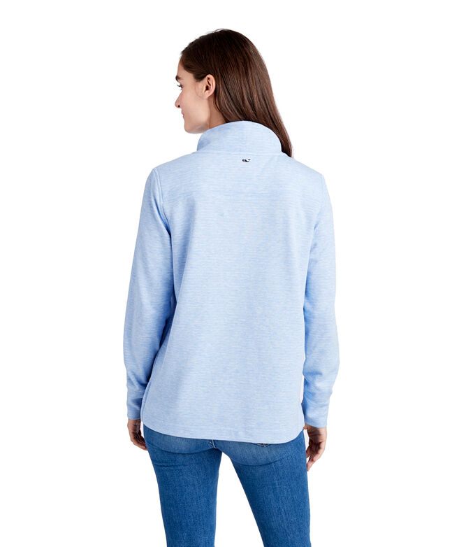 Double Faced Relaxed Funnel Neck Shep Shirt