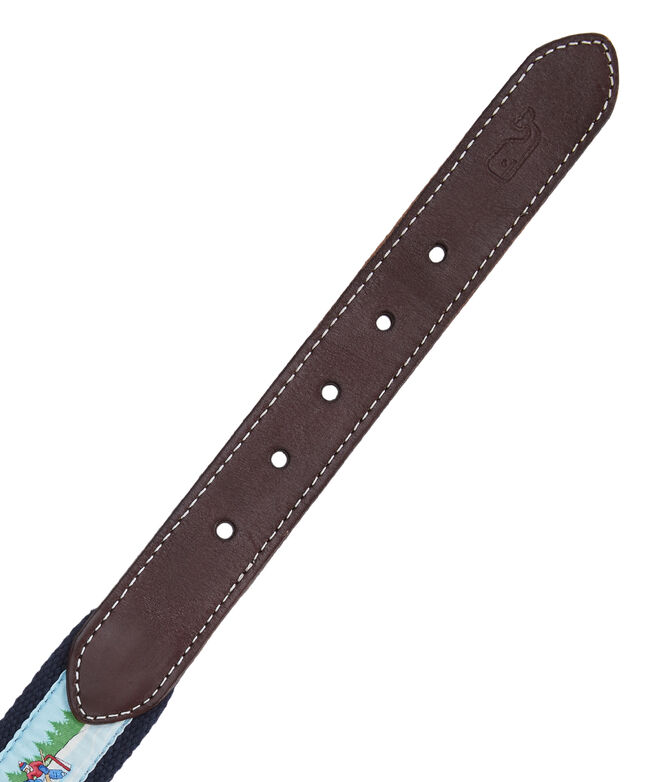 Pond Hockey Canvas Club Belt