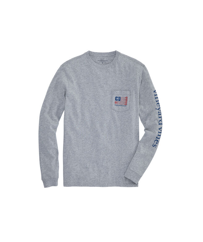 Lacrosse Flag Long-Sleeve Pocket T-Shirt