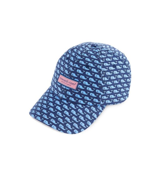 Womens Whale Print Baseball Hat