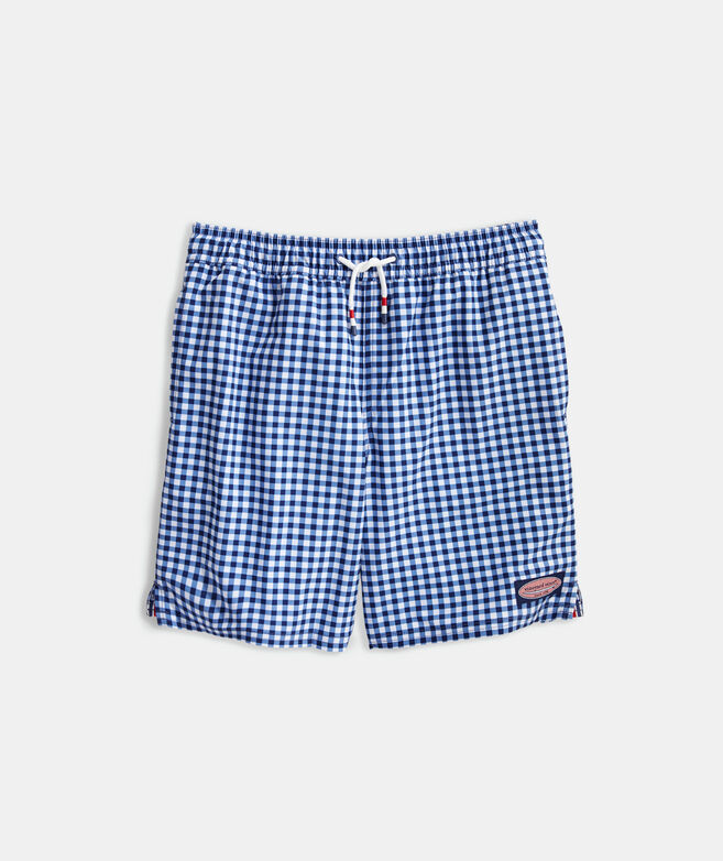Boys' Printed Gingham Chappy Trunks