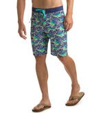 Dolphin Fish Wave Laser Cut Board Shorts