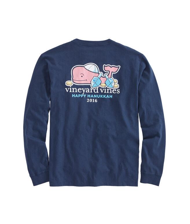 Long-Sleeve Hanukkah Whale 2016 Pocket T-Shirt