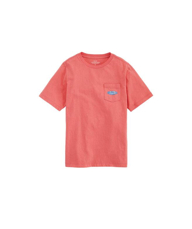 Boys' Sailfish & Birds Surf Logo Short-Sleeve Pocket Tee