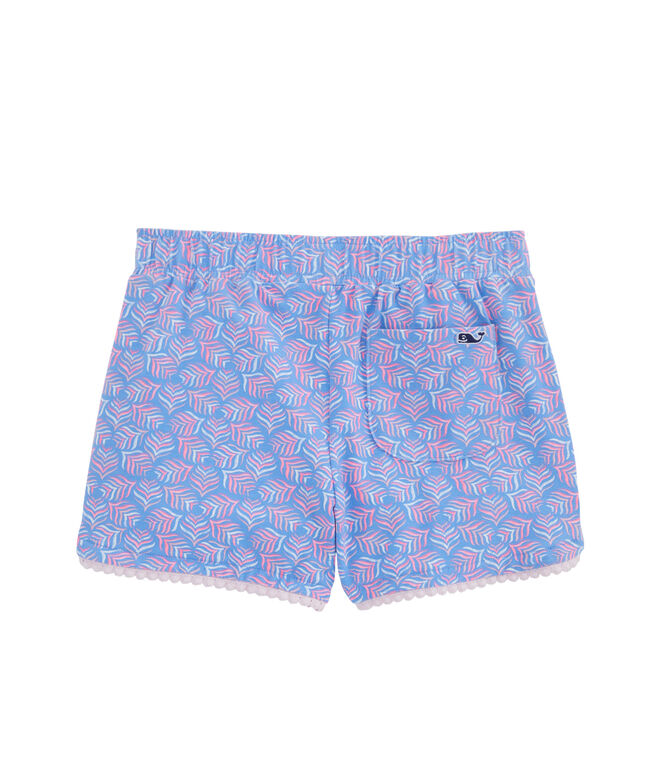 Girls Whaletail Tile Print Knit Shorts