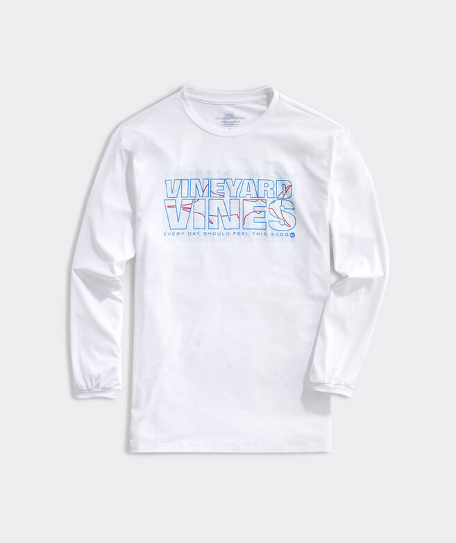 Marlin Knockout Long-Sleeve Performance Harbor Tee