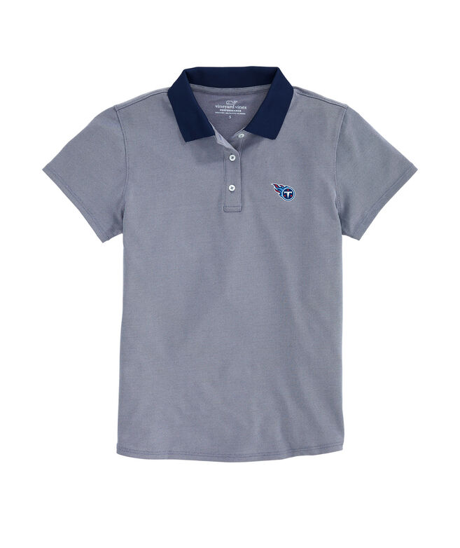 Tennessee Titans Women Performance Pique Stretch Polo