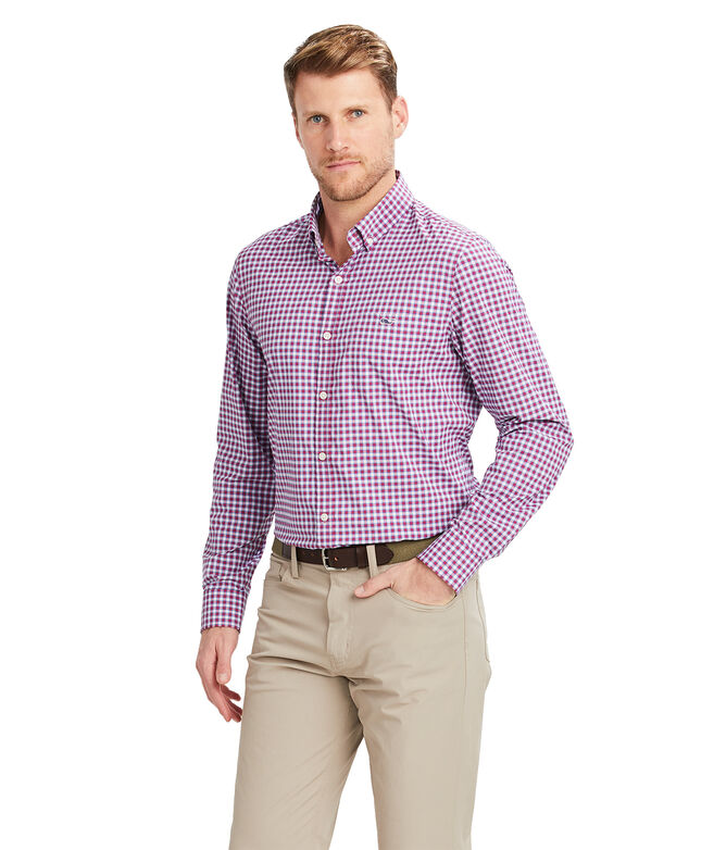 Slim Fit Teton On-The-Go Performance Tucker Button-Down Shirt