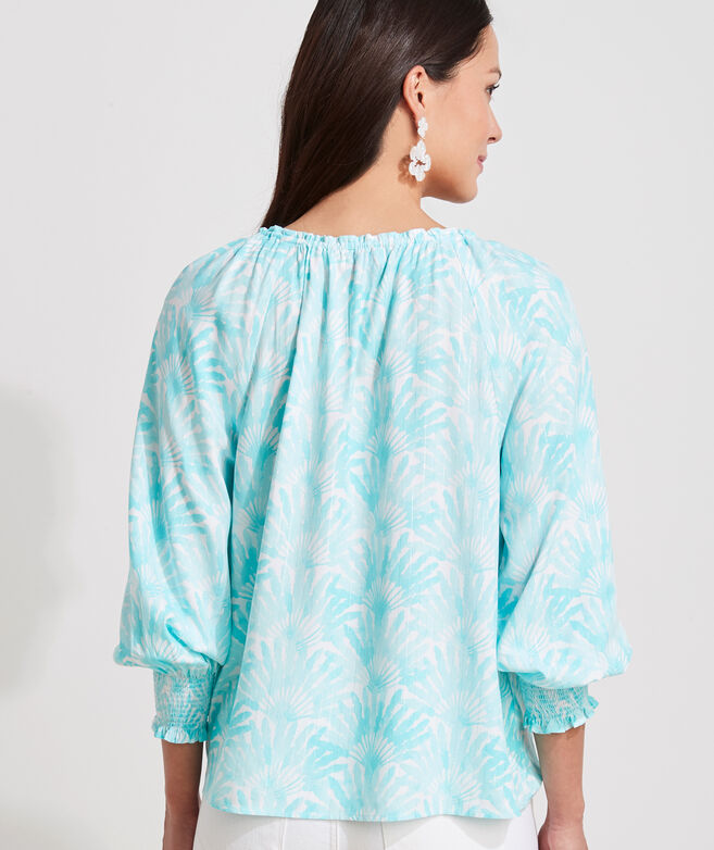 Traveling Palm Popover Top