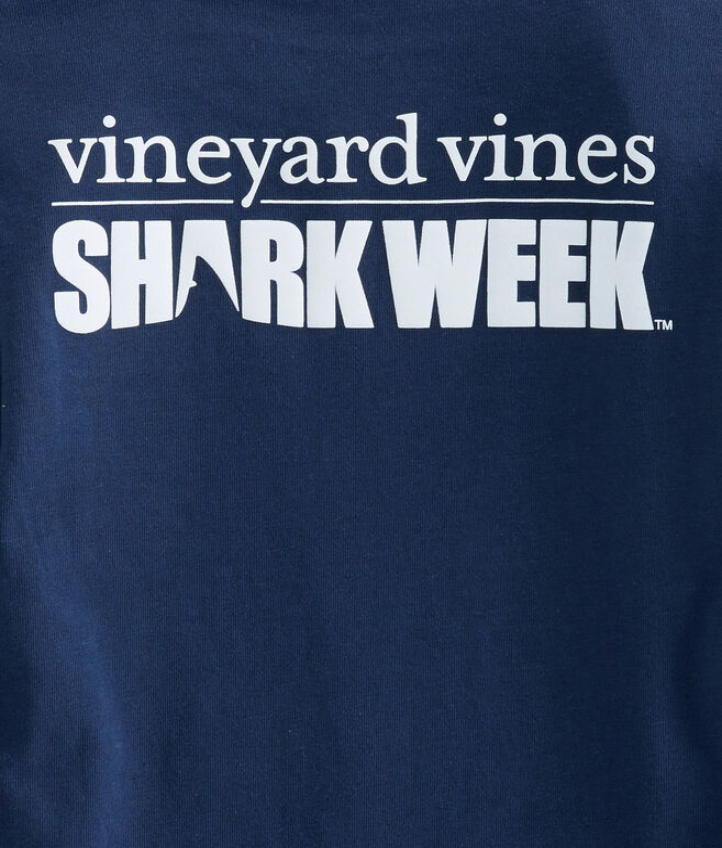 Kids Shark Week Long-Sleeve Logo Pocket T-Shirt