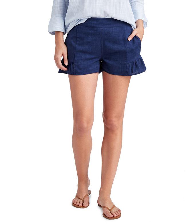 Flounce Pull-On Shorts