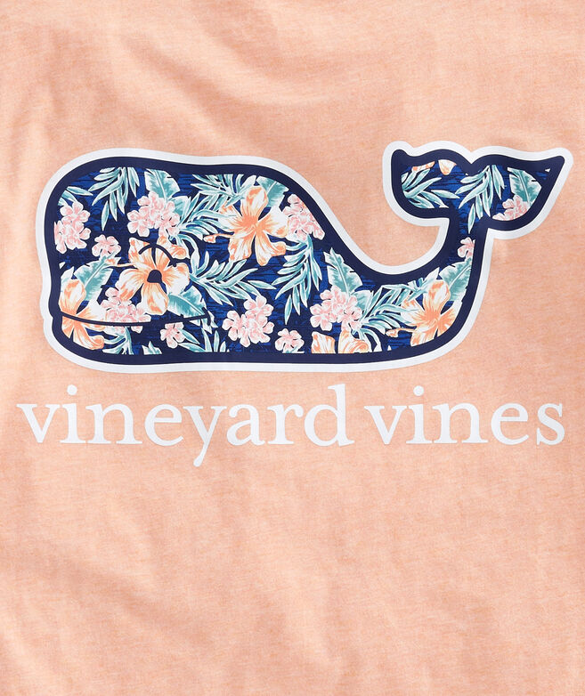 Guana Floral Whale Fill Pocket T-Shirt