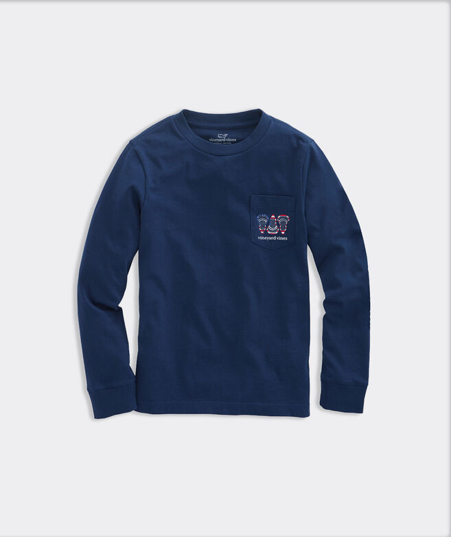Kids' USA Lax Heads Long-Sleeve Pocket Tee