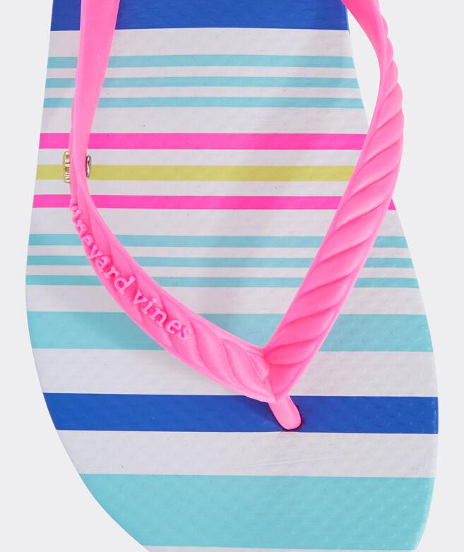 Boca Grande Stripe Flip Flops