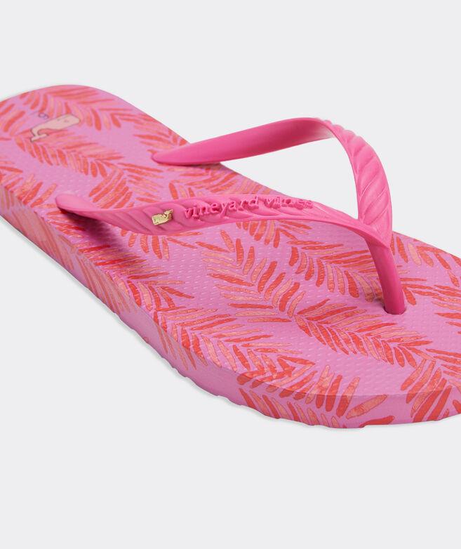 Painted Palm Flip Flops