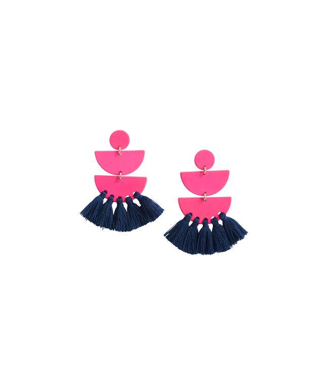 Geo Tassel Earrings