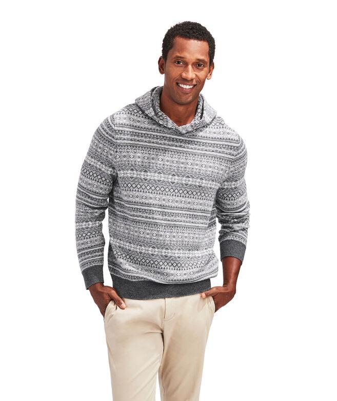 Fair Isle Sweater Hoodie
