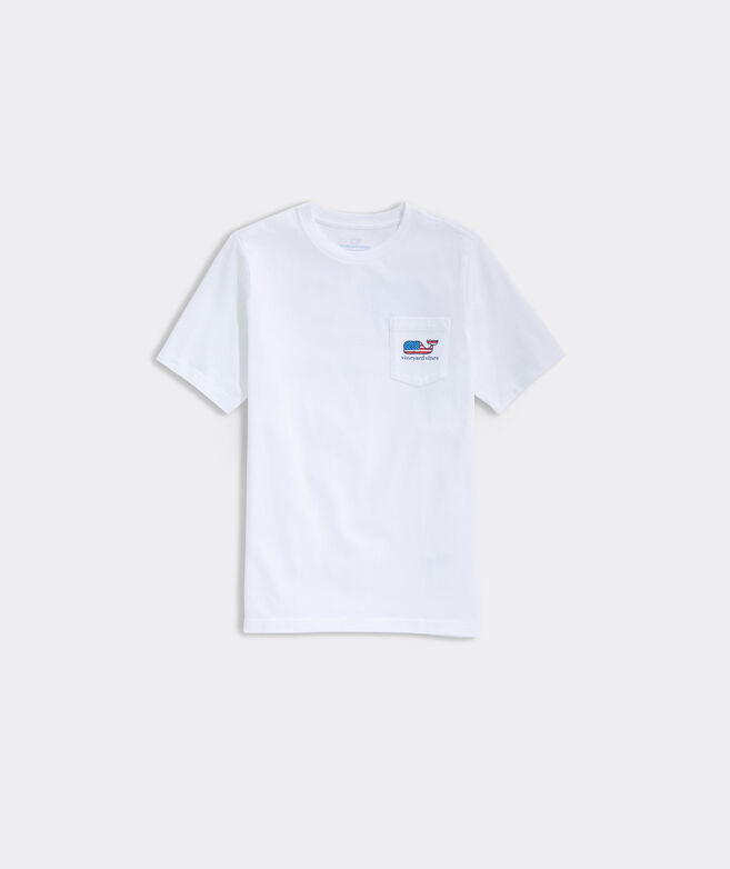 Boys' Flag Whale Pocket Short-Sleeve Tee
