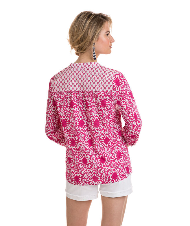 Tile Print Mixed Medallion Top