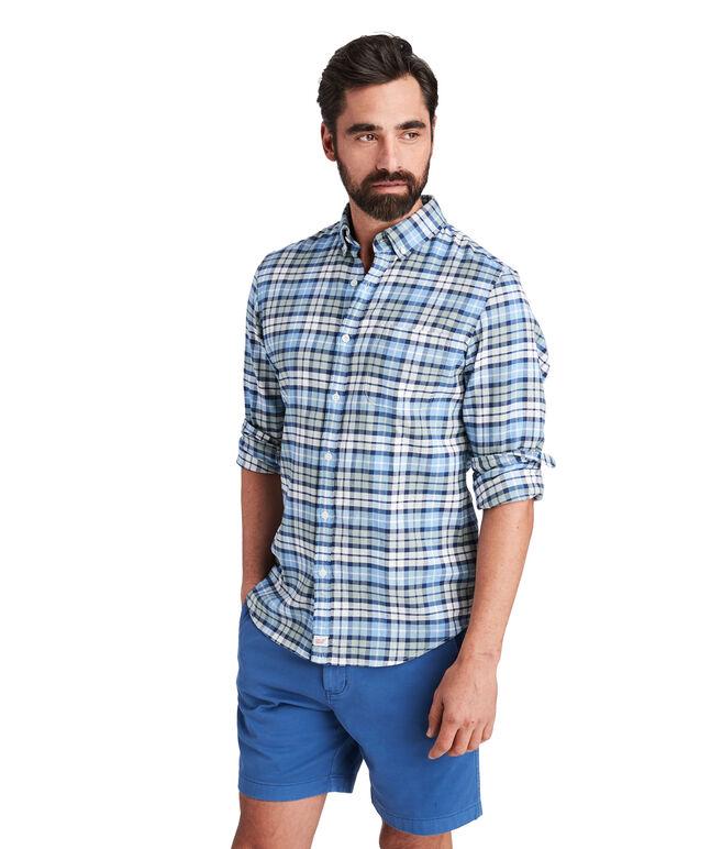 Marine Plaid Slim Murray Shirt