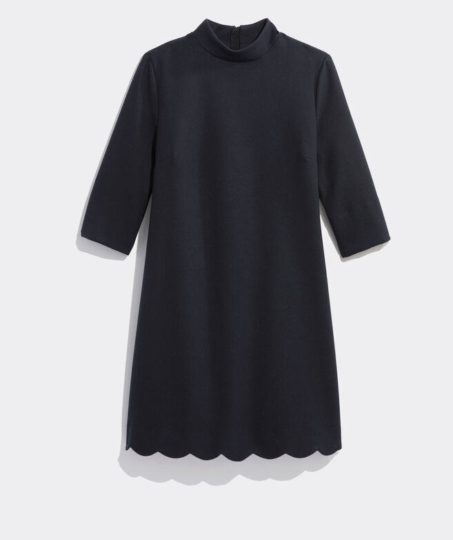 Scalloped Ponte Dress