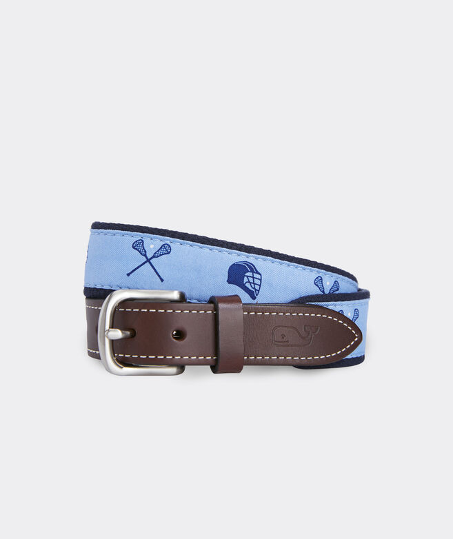 Boys' Lax Stick & Helmet Canvas Club Belt