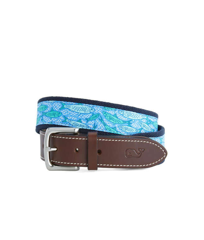 Fish Scales Canvas Club Belt