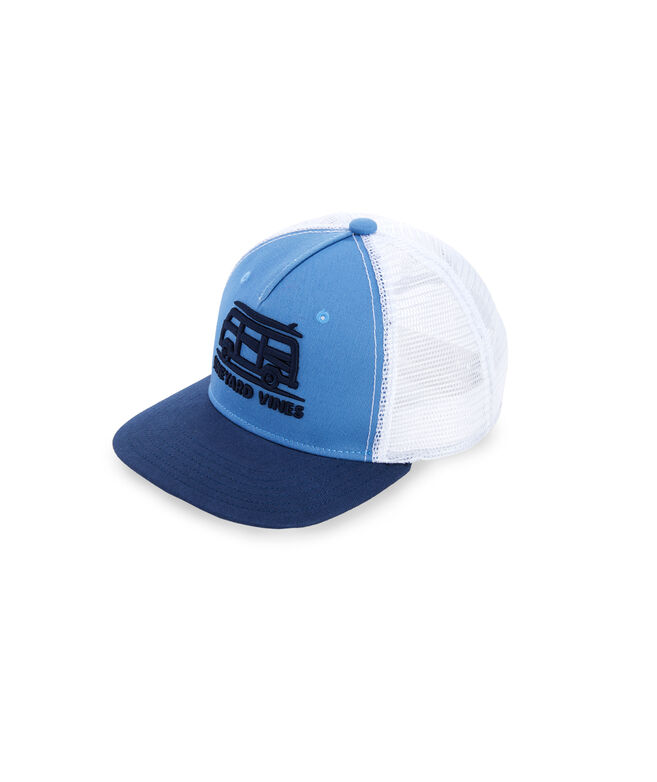 Boys Bus & Surf Embroidered Trucker Hat