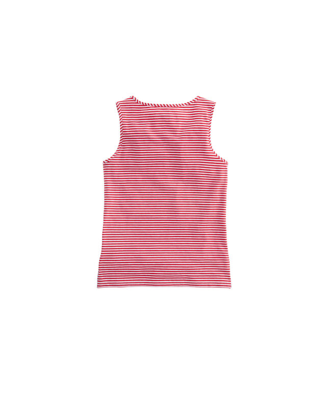 Girls Vineyard Stripe Simple Tank