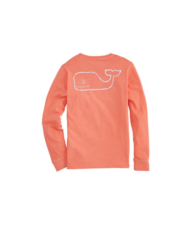 Boys' Long-Sleeve Vintage Whale Pocket Tee
