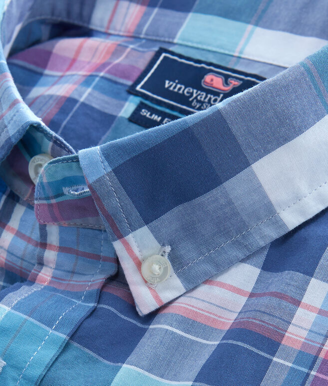 Short-Sleeve Barbosa Plaid Tucker Shirt