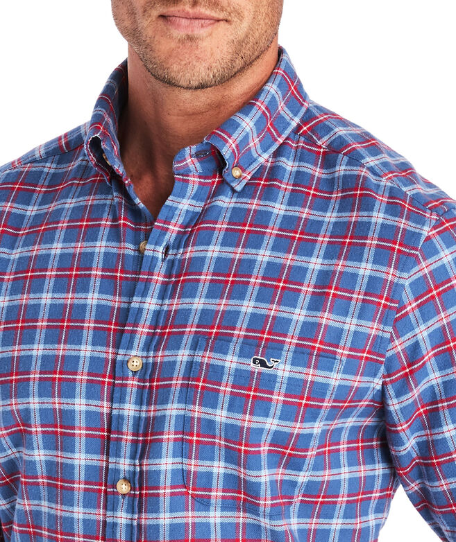 Classic Fit Schooner Flannel Tucker Button-Down Shirt