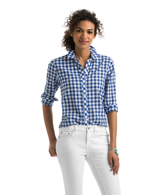 Blyden Gingham Relaxed Button Down