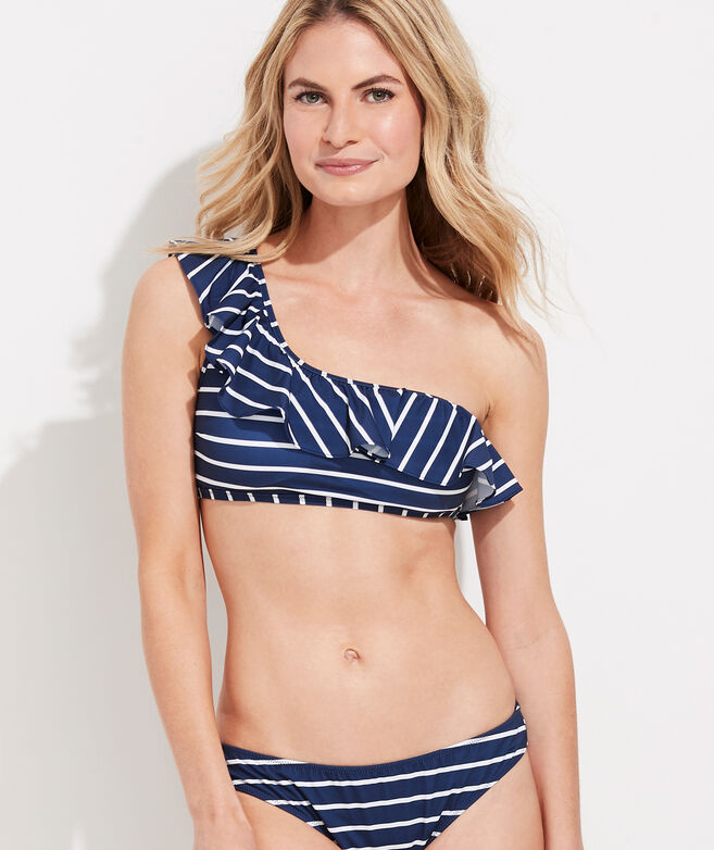 Break Stripe One-Shoulder Top