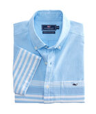 Short-Sleeve Sea Mist Stripe Classic Tucker Shirt