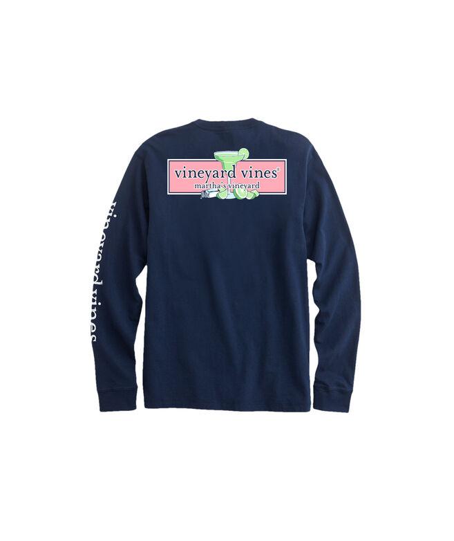 OUTLET Men's Margarita Logo Box Long-Sleeve Pocket Tee