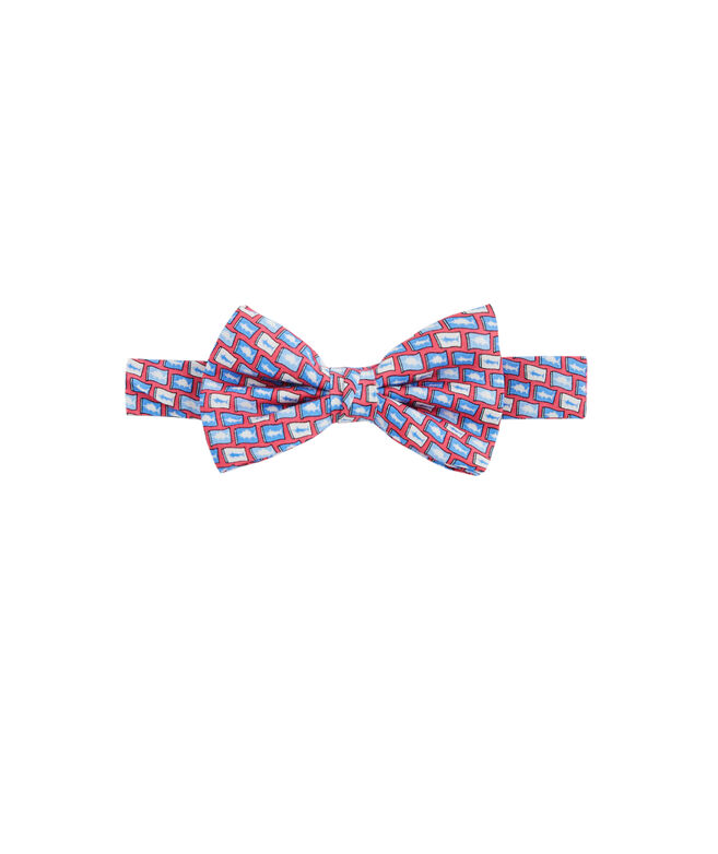 Boys Fish Flag Bow Tie