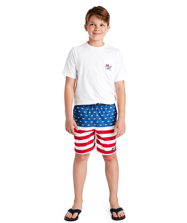 Boys Uncle Sam Whale Pocket T-Shirt