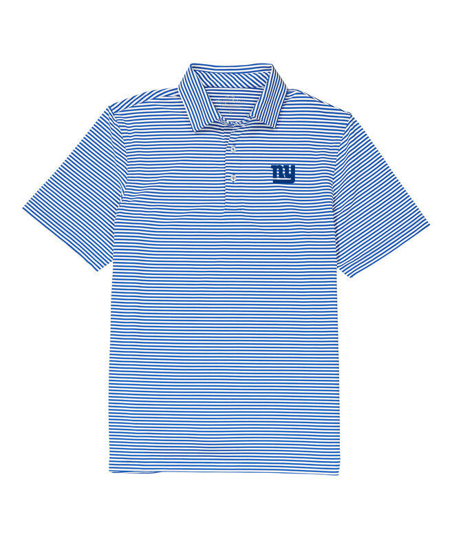 New York Giants Winstead Stripe Sankaty Performance Polo
