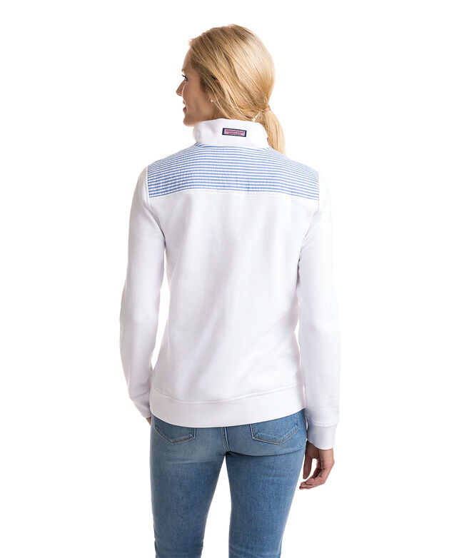 Relaxed Seersucker Shoulder Shep Shirt
