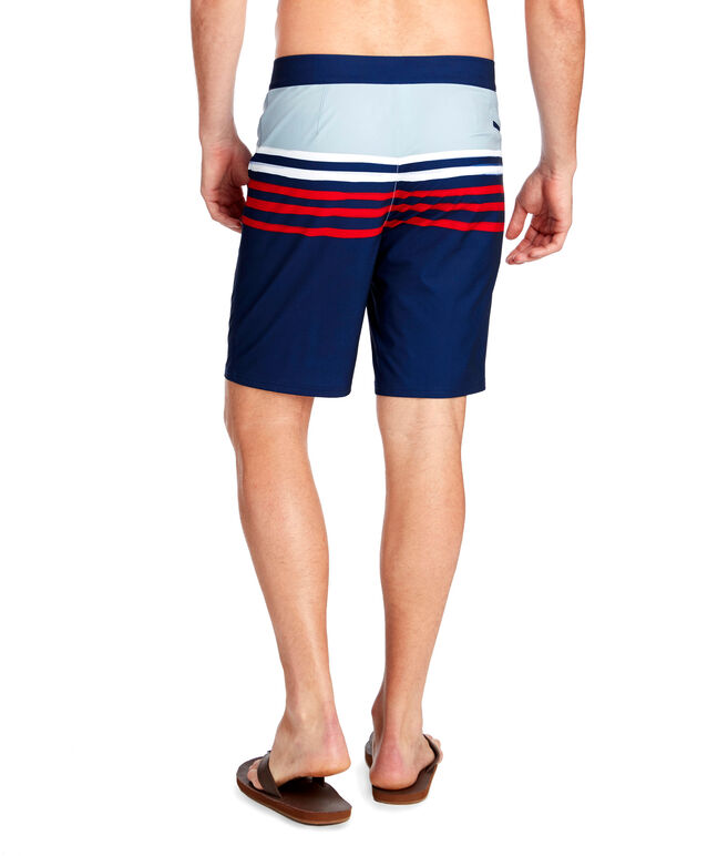 Painted Stripe Board Shorts